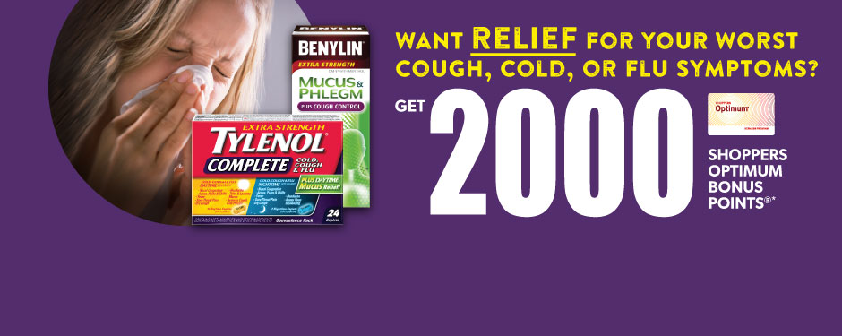 Get RELIEF from your worst Cold, Cough & Flu symptoms!