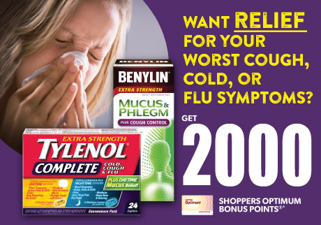 Get RELIEF with Tylenol® and Benylin®!