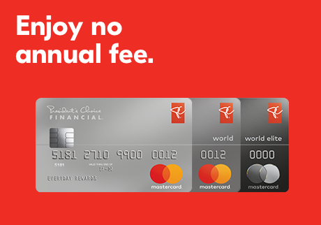 Enjoy no annual fee.